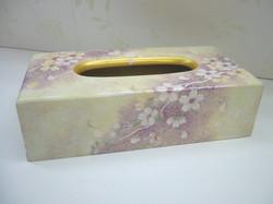 デコラティブペイント,桜のティッシュケース