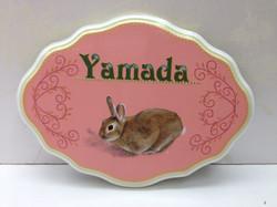 デコラティブペイント,ウサギの表札