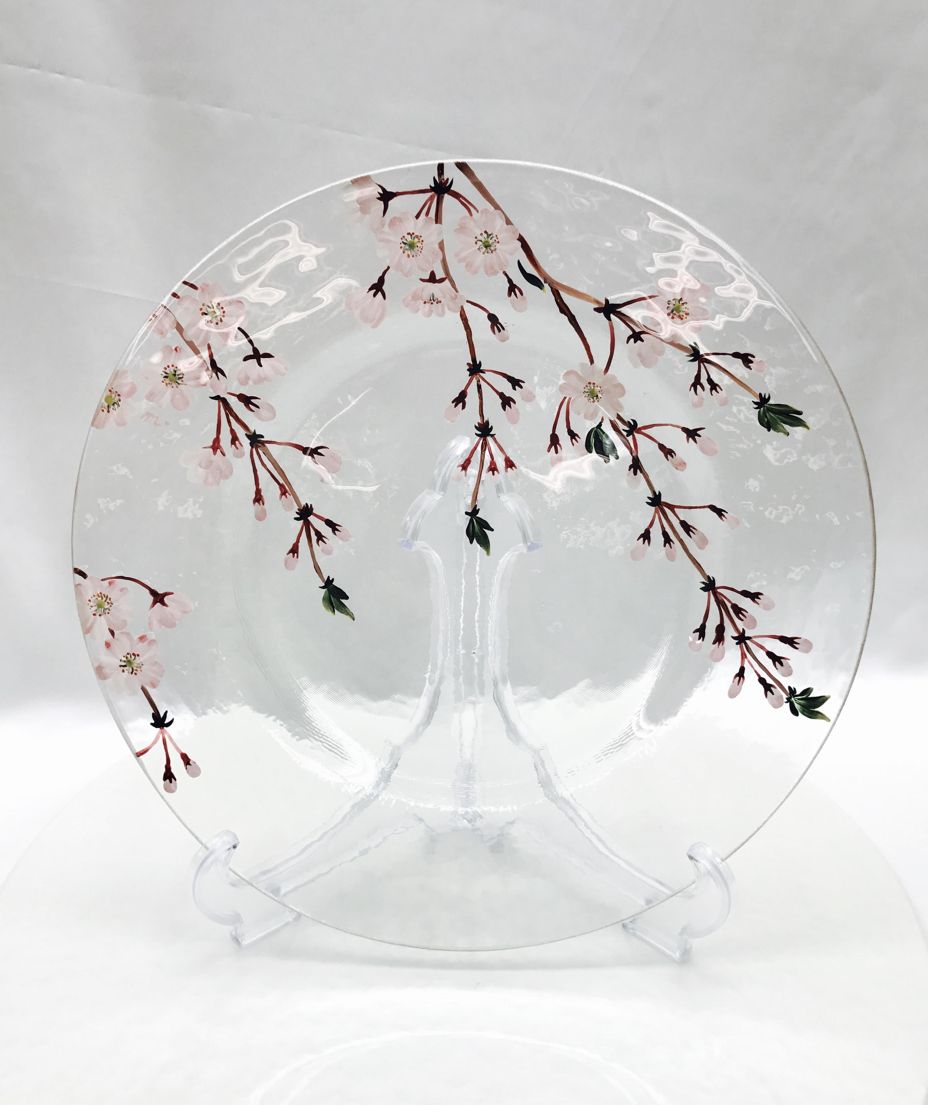 しだれ桜のお皿