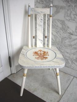 デコラティブペイント,大理石模様の椅子