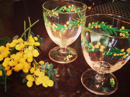 ミモザのグラス
