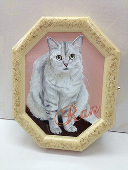 デコラティブペイント,猫の肖像画