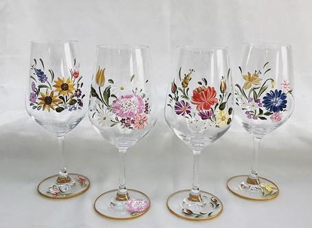 花々のワイングラス