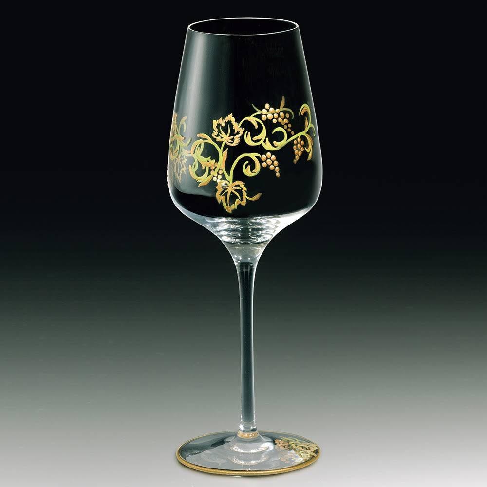 葡萄唐草ワイングラス