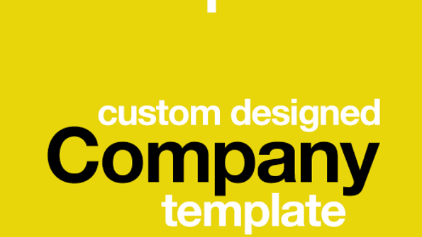 Custom Designed Company Template