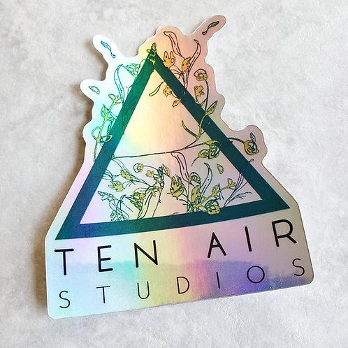 Ten Air Studios holographic sticker