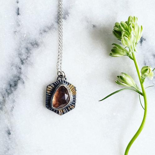 peach topaz tiny medallion: hex