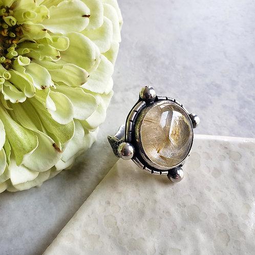 rutile quartz compass ring