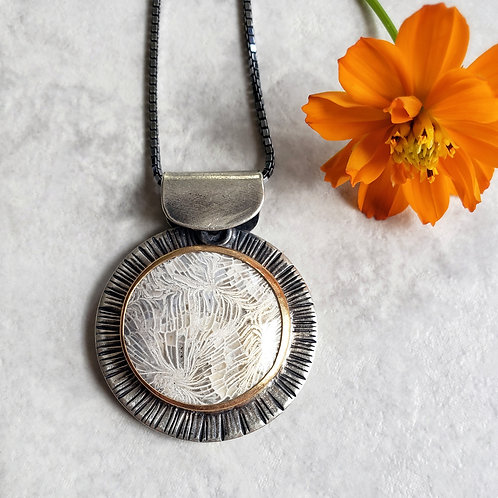 wisdom rays: fossil coral, 14/20 gold
