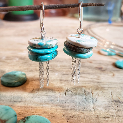 turquoise howlite rainclouds