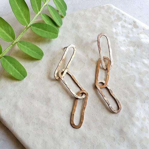 ultralite gold chain studs