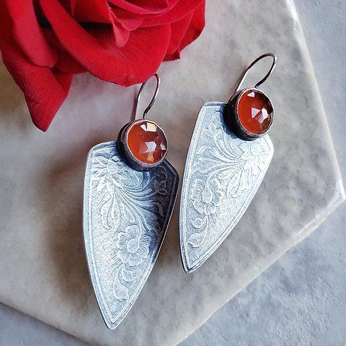 carnelian floral shields