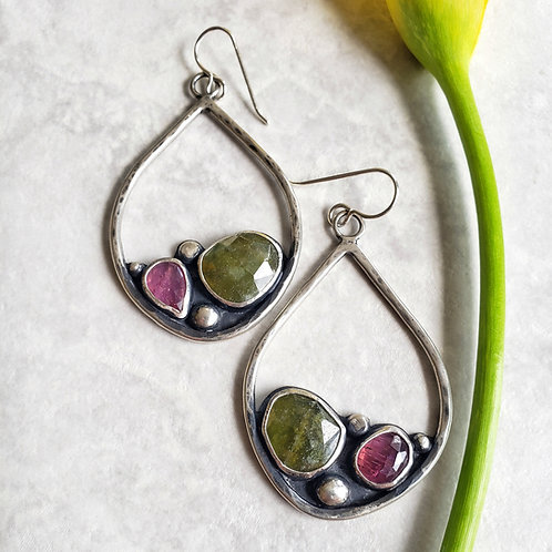 watermelon magpie hoops