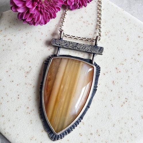 variegated agate maya-style shield