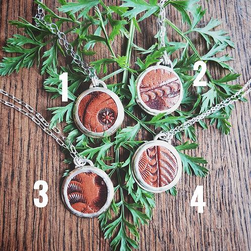vintage leather medallions (asst'd.)