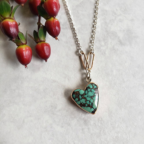 yungai turquoise heart: double link