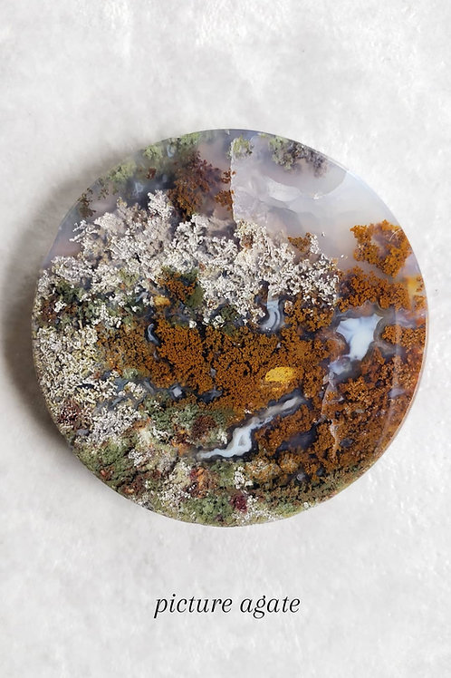 picture agate pendant only