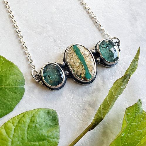 horizon totem: ribbon turquoise & mint kyanite