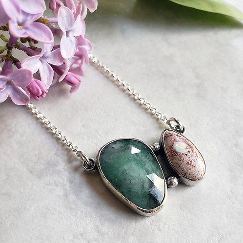 gem duo: emerald & boulder opal