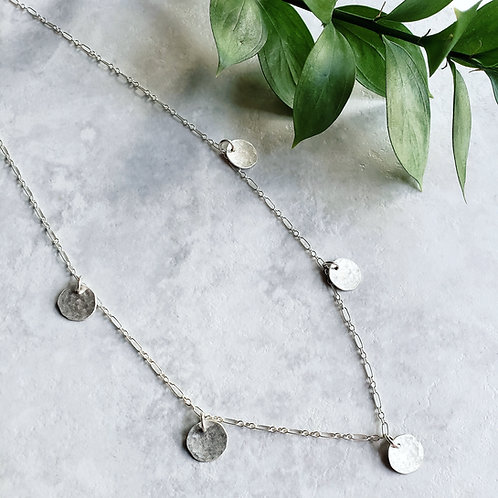 silver gypsy layer necklace