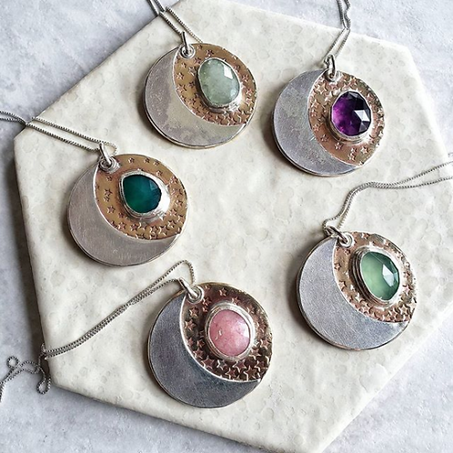 moon-gem medallions