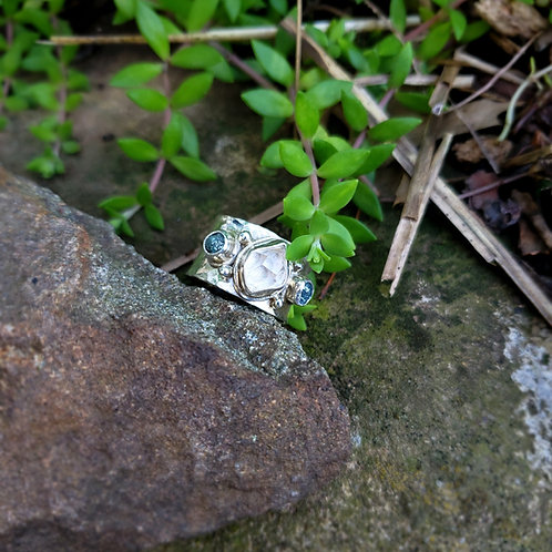 herkimer & raw blue diamond
