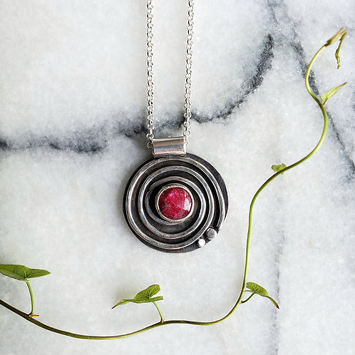 journey pendant: ruby corrundum