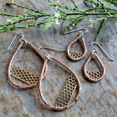 beehive hoops, copper/brass