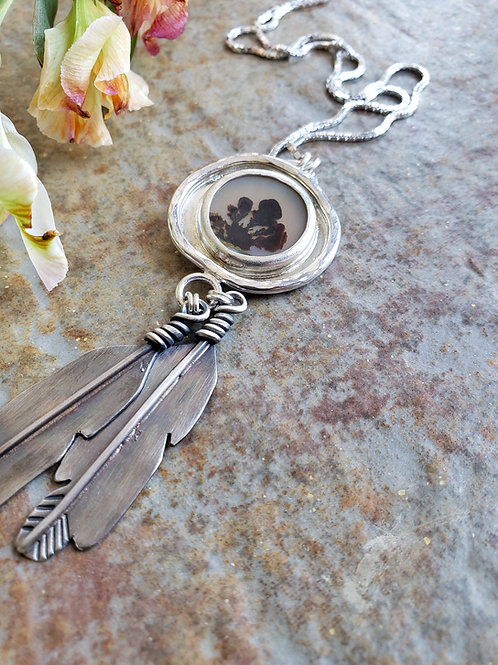 dendrite feather hoop: clarity