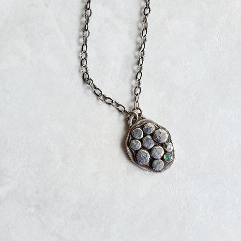 "hidden: opal ""river stone"" pendant"