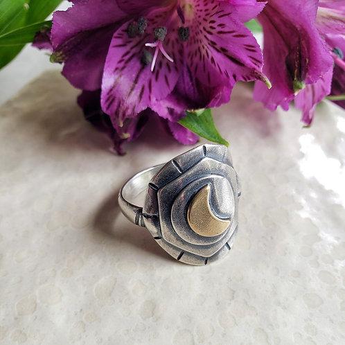 moon shield ring