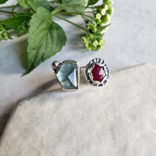 aquamarine/ruby corrundum split-gem