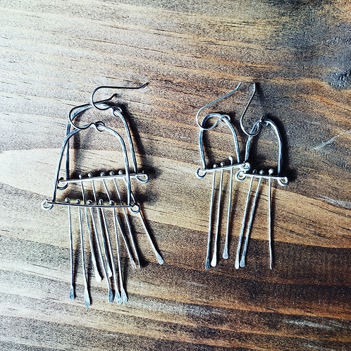 kinetic earrings (lg/sm)