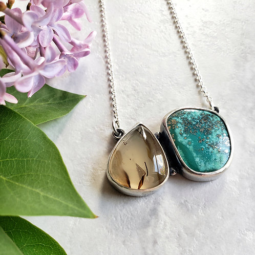 gem duo: montana agate & morenci turquoise