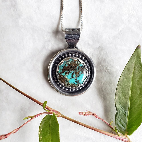 turquoise circle medallion