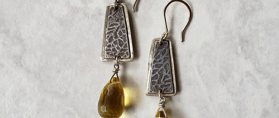lemon quartz briolettes