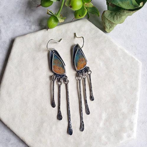 mini-wings: blue opalized wood