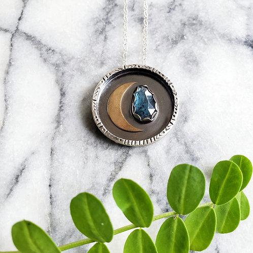kyanite moon medallion