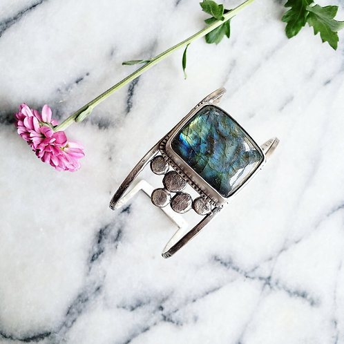 labradorite silverstone cuff