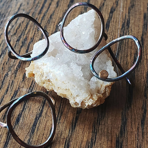 open circle sterling ring