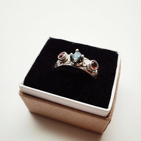 viking garnet raw blue diamond