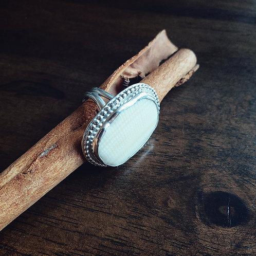 ecru shell cocktail ring
