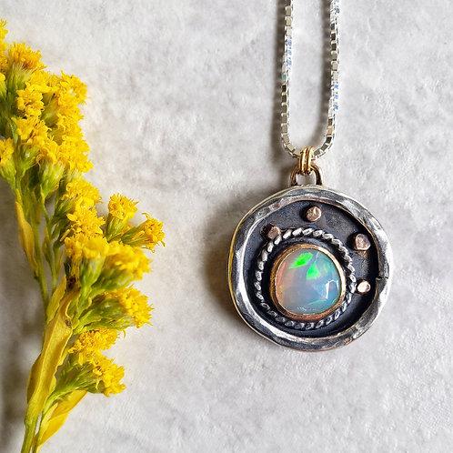 wish, fine jewelry: rainbow opal