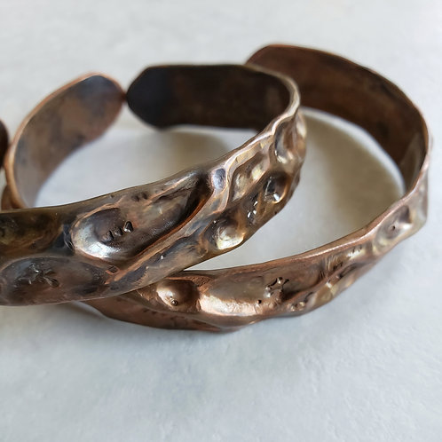 air-chased copper cuff
