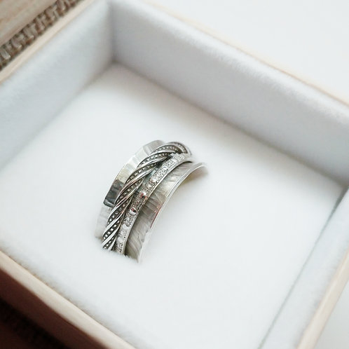 sterling spinner ring: vine
