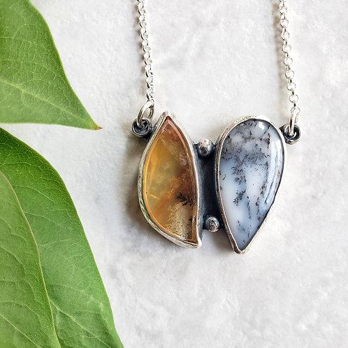 gem duo: dendritic quartz & dendritic opal