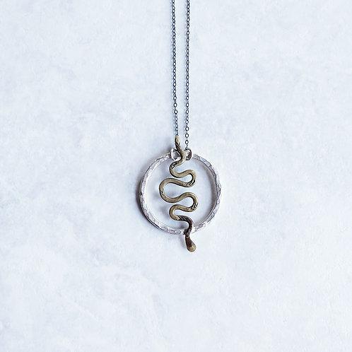 serpentsortia hoop pendant