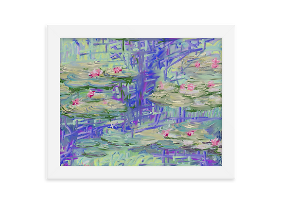 """""""Water Lily"""" 00.7 Framed Poster"""