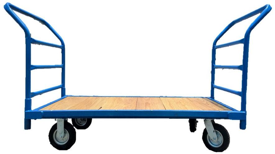 carrito plataforma de carga madera