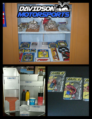 Davidson Motorsports parts showroom